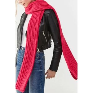 Forever 21 Hot Pink Knit Scarf - NWT